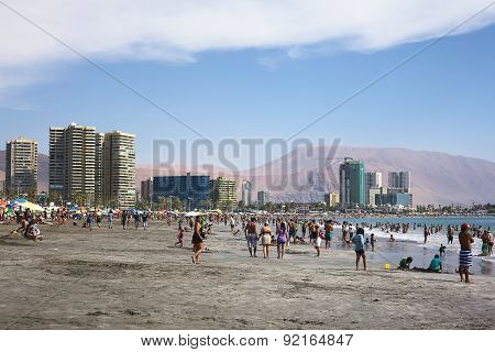 Cavancha Beach in Iquique, Chile
