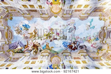 Ceiling Painting In  Melk Abbey