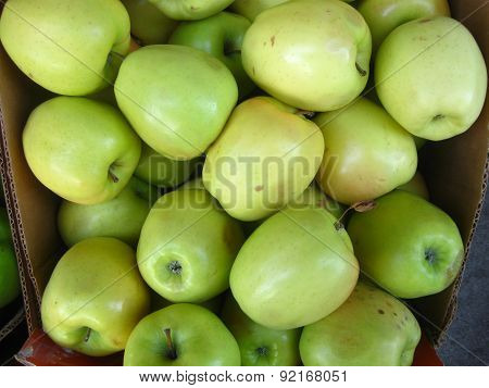 green apples up close