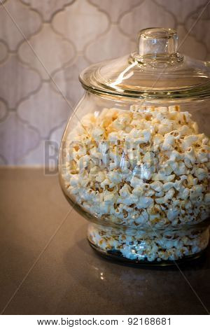 Popcorn in a Glass Jar