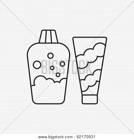 Bath Supplies Line Icon