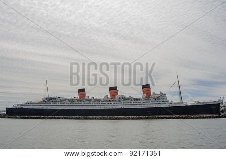 Queen Mary On Cloudy Day