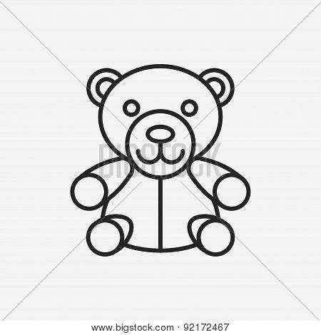 Bear Doll Line Icon