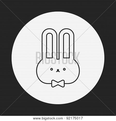 Rabbit Doll Line Icon