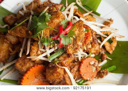 Radish Cake Thai Food Dish