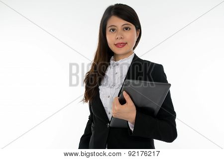 Businesswoman Holding Note Pad