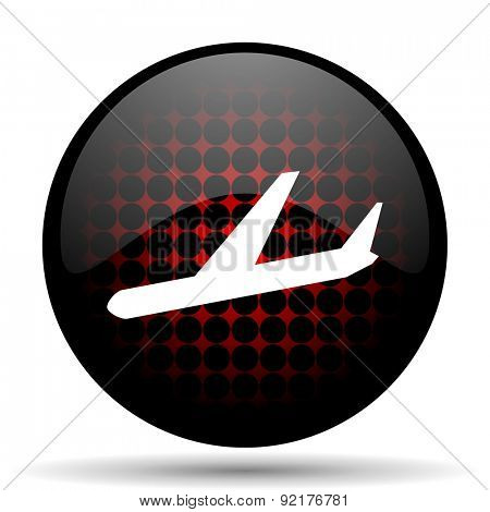 arrivals red glossy web icon