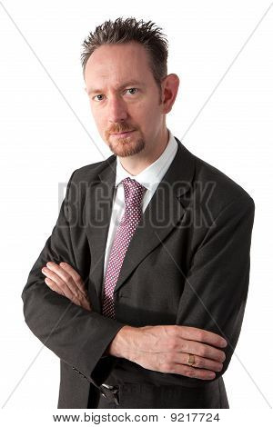 Goatee Businessman With Arms Crossed
