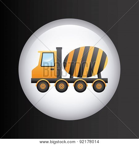 under construction design over gray background vector illustrati