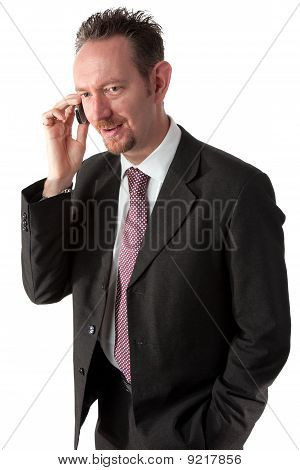 Goatee Businessman On The Phone