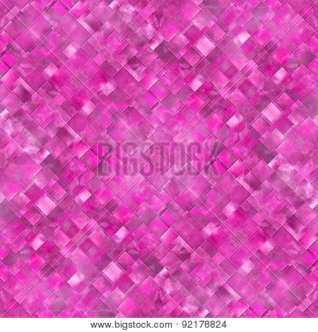 Seamless Diagonal Mosaic Background In Pink