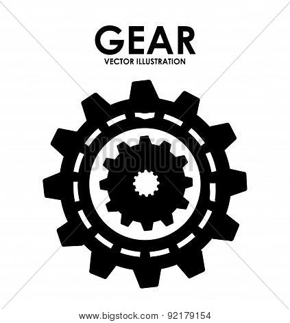 gears design over white  background vector illustration