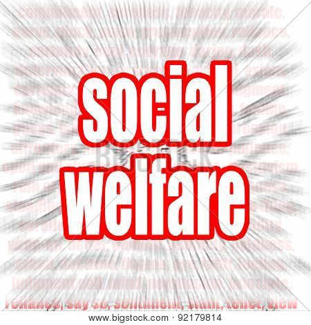 Social Welfare Word Cloud