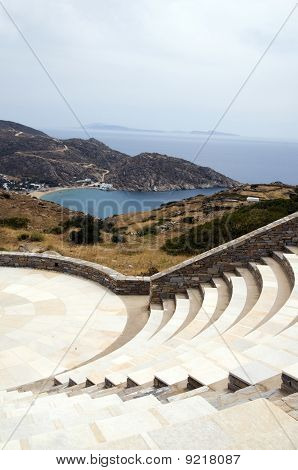 Amphitheater Milopotas Mylopotas Beach Aegean Sea Ios Greek Island