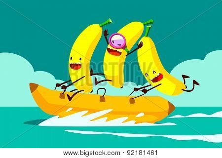 Bananas On Banana Boat