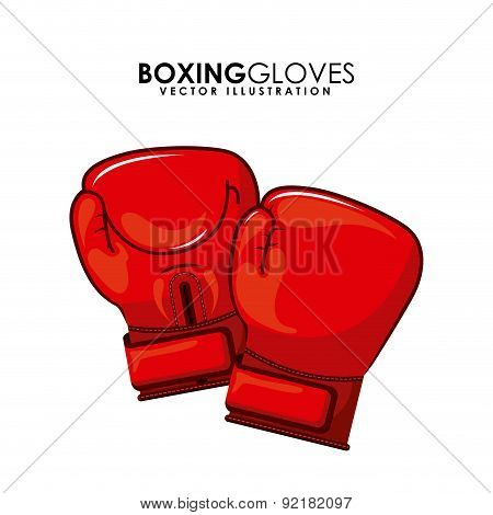 boxing design over white background vector illustration