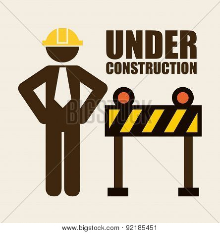 under construction design over white  background vector illustra