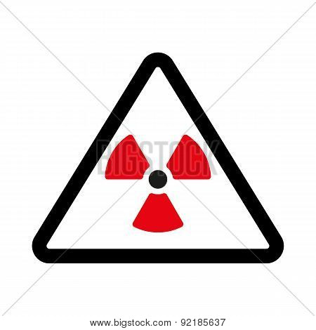 The Radiation Icon. Radiation Symbol. Flat