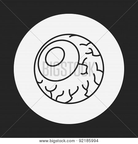 Halloween Eyeballs Line Icon