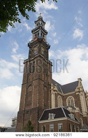 West Church In Amsterdam (netherlands)