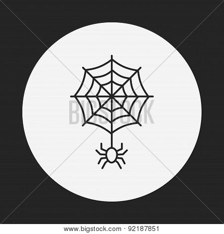 Halloween Spider Line Icon