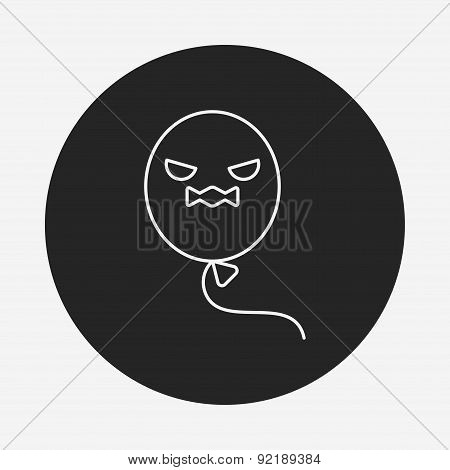 Halloween Balloon Line Icon