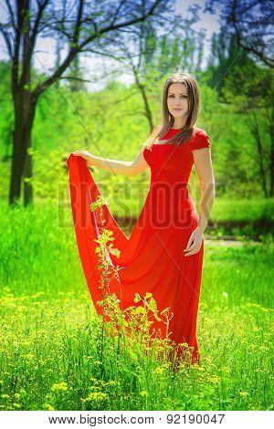 Beautiful girl in a garden