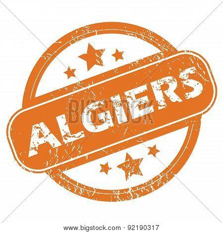 Algiers round stamp