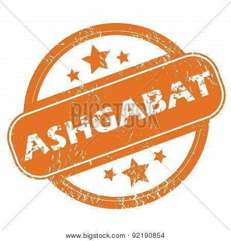 Ashgabat round stamp