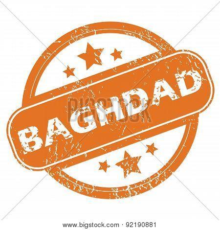 Baghdad round stamp