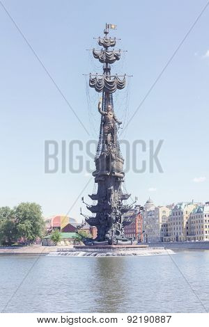 Peter The Great Monument In Moscow