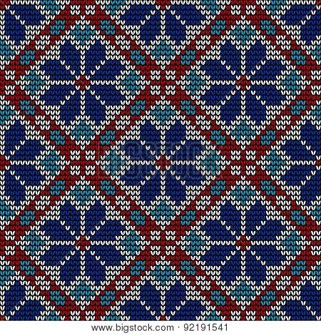 Seamless norwegian embroidered winter pattern