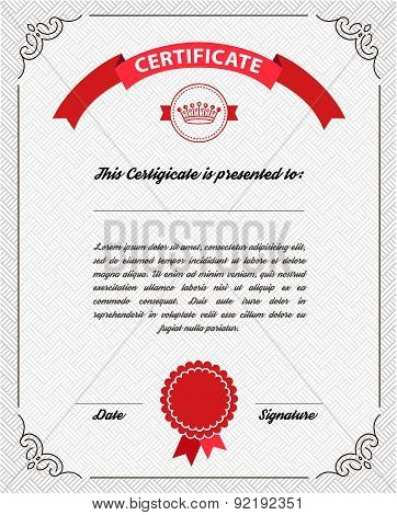 Template diploma, certificate currency.
