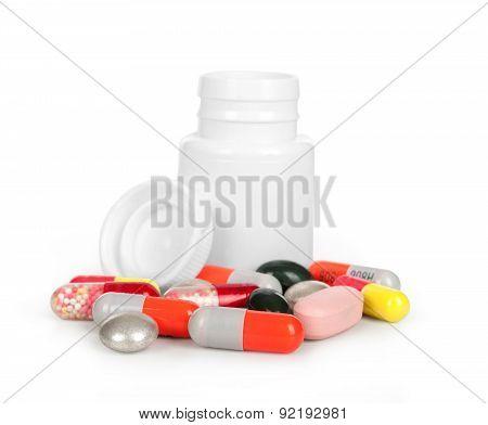 Medical Bottle And Medical Pills