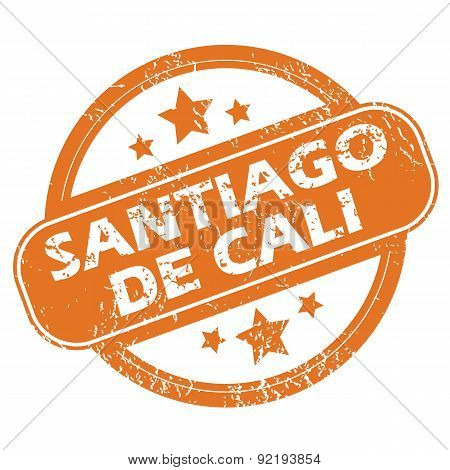 Santiago De Cali round stamp