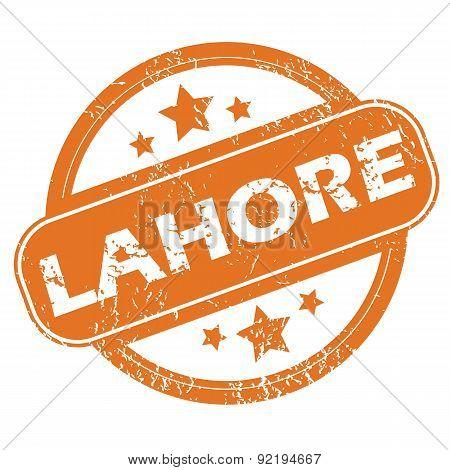 Lahore round stamp