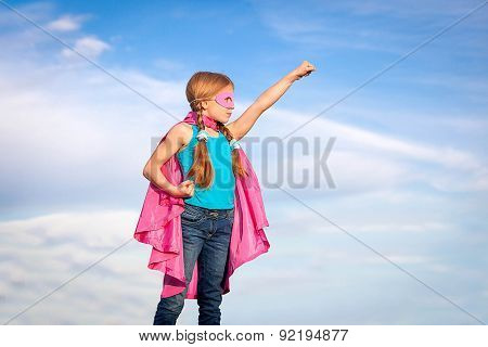 super hero or superhero  girl power concept
