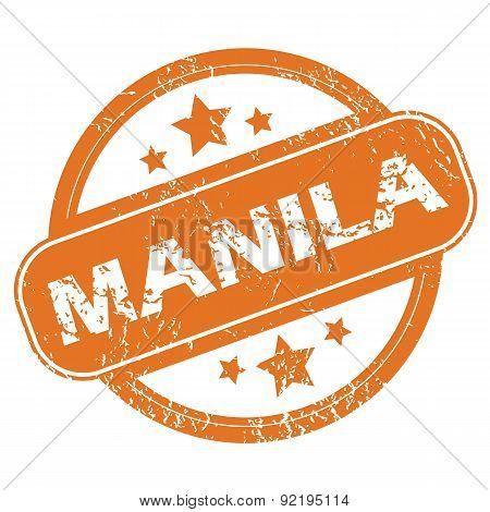 Manila round stamp