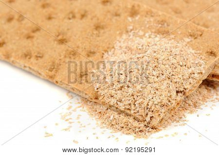 Crispbread With Bran Close-Up