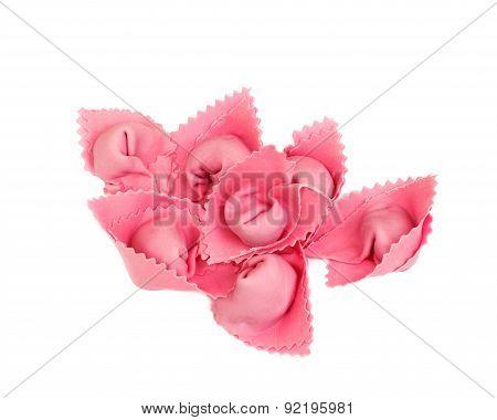 pink homemade ravioli