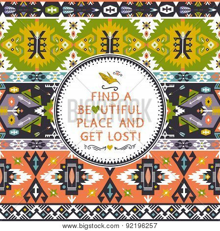 Ethnic vector pattern in mexican style