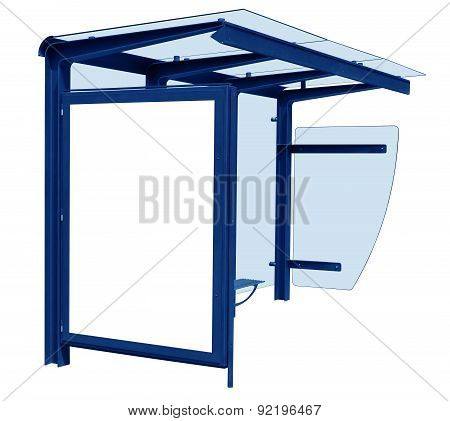 Bus Stop Isolated - Blue
