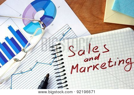 Notepad with  Sales and Marketing