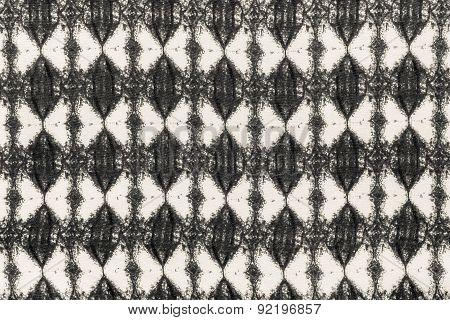 Beige Fabric With A Rhombic Pattern