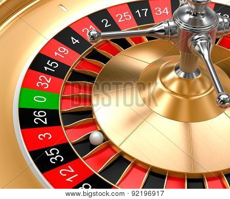 A Close-up View Of Casino Roulette