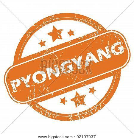 Pyongyang round stamp