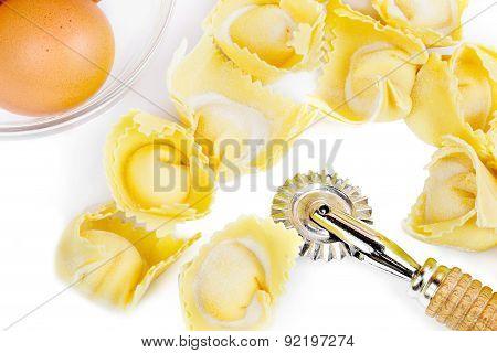 homemade ravioli close up