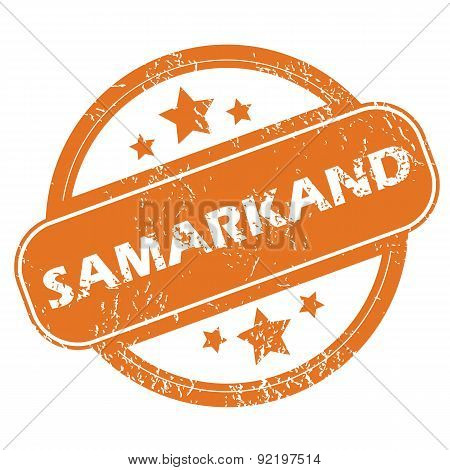 Samarkand round stamp