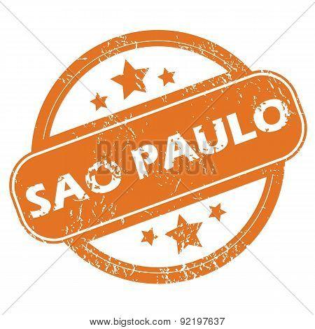 Sao Paulo round stamp