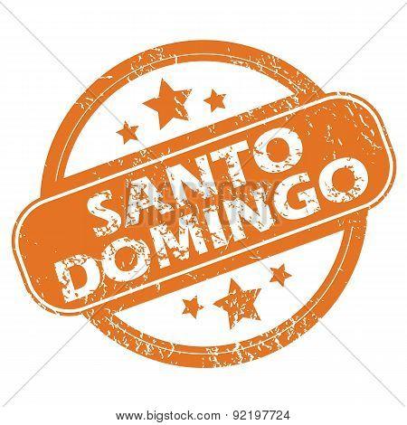 Santo Domingo round stamp